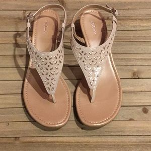 New Style & Co Tan Sandal US 10 M